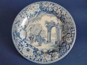 James and Ralph Clews 'Romantic Ruins' Dinner Plate #1 c1820